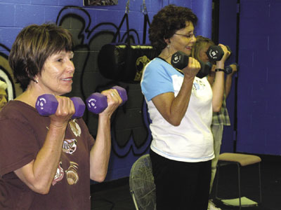 StrongWomen Stron Bones participants work out in Española, New Mexico.